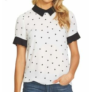 NWT CeCe Peter Pan collar Blouse